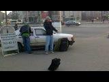 free style jam mc s: green & uol yol фристайл рэп на улице у метро Приморская 26.03.12