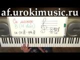 Си Мажор. Аккорд B. H-dur. Пианино уроки для начинающих. Видео уроки на пианино.